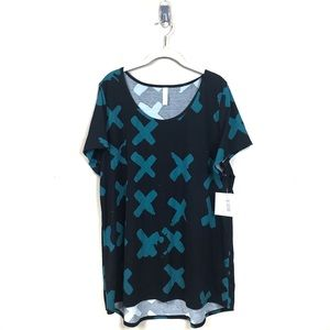 New with tags lularoe  black teal classic tee 3x